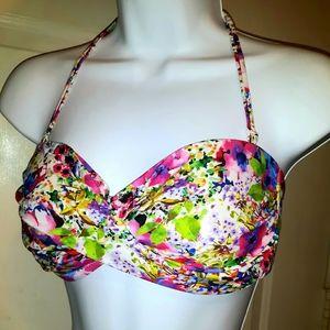 New Bright Floral ABS Allen Schwartz Bikini Top 10